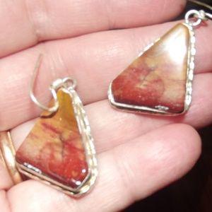 Noreena Jasper in 925 Silver Drop Earrings